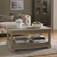 Ametis Wooden Coffee Table Rectangular In Grey Washed Oak