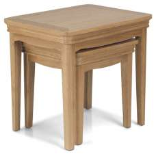 Ametis Wooden Nest Of 2 Tables In Oak