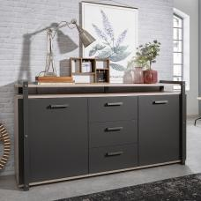 Andora Wooden Sideboard In Sorrento Oak And Anthracite