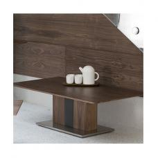 Angelo Coffee Table Rectangular In Walnut And Grey PU