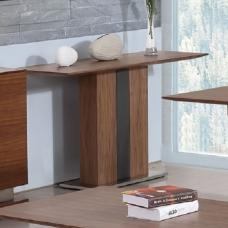 Angelo Console Table Rectangular In Walnut And Grey PU