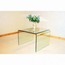 Angola Bent Clear Glass Lamp Table