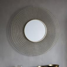 Antila Modern Wall Mirror Round In Gold