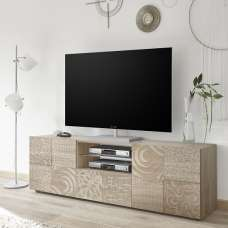 Ardent Wooden TV Stand Wide In Sonoma Oak With 2 Doors