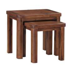 Areli Wooden Nest Of Tables In Dark Acacia Finish