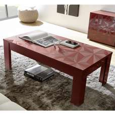 Arlon Modern Coffee Table Rectangular In Red High Gloss