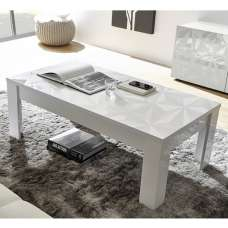 Arlon Modern Coffee Table Rectangular In White High Gloss