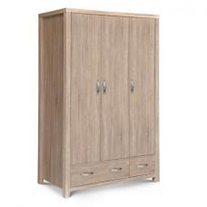 Armedia Wardrobe In Sonoma Oak With 3 Doors And 2 Drawers