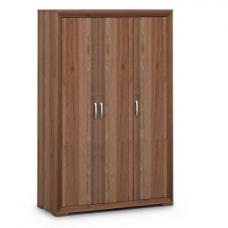 Ashley Wooden Wardrobe In Walnut With 3 Doors