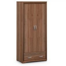 Ashley Wooden Wardrobe In Walnut With 2 Doors And 1 Drawer