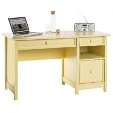 Aspire Home Office Computer Desk In Sherbert Yellow