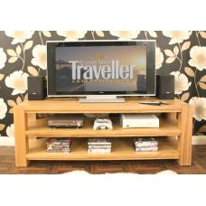aston oak widescreen open lcd tv cabinet