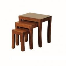 Athens Nest Of 3 Tables In Solid Shesham Wood