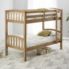 Rowley Wooden Bunk Bed In Lacquered Pine