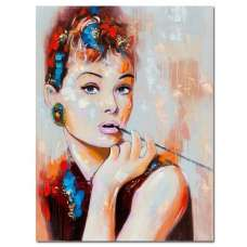 Audrey Hepburn Canvas Wall Art In MultiColour