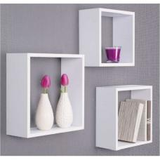 Austria Set of 3 Wall Mounted Shelves In White