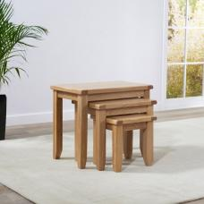 Avignon Wooden Nest Of Tables In Oak