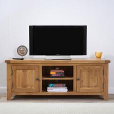 Nordin Wooden TV Stand In Oak With 2 Doors