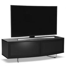 Avitus Modern TV Stand In Black High Gloss With 2 Doors