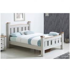 Barista Cotemporary Wooden Bed In Grey