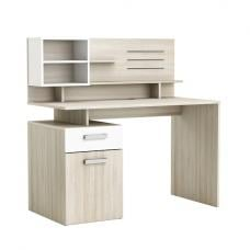 Barrington Computer Desk In Shannon Oak And Pearl White