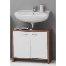Madrid7 Bathroom Vanity Cabinet In Plumtree And White With Doors