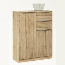 Bayern Chest Of Drawers In Brushed Oak With 2 Doors 2 Drawers