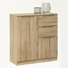 Bayern Chest Of Drawers Small In Brushed Oak With 2 Drawers