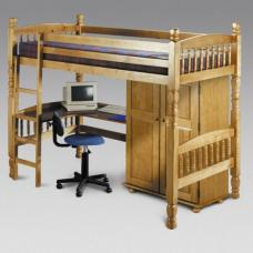 Solid Pine High Kids Bunk Bed