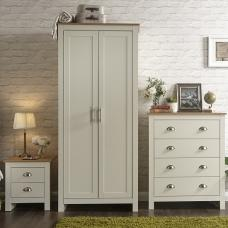 Valencia Trio Bedroom Furniture Set In Cream With Oak Top
