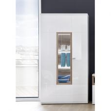 Belina Display Cabinet In White With High Gloss And LED