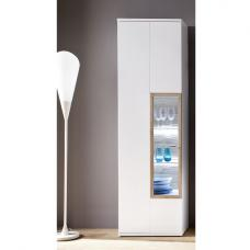 Belina Left Display Cabinet In White With High Gloss And LED