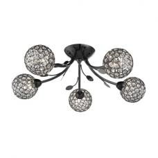 Bellis II 5 Light Ceiling Semi Flush In Black Chrome