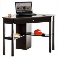 Bente Home Office Corner Computer Desk In Cinnamon Cherry