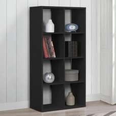 Bergen Shelving Unit In Black With 8 Open Compartments