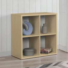Bergen Shelving Unit In Beech With 4 Open Compartments