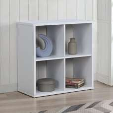 Bergen Shelving Unit In White With 4 Open Compartments