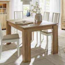 Berger Wooden Extendable Dining Table In Rustic Oak