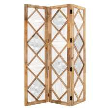 Bettina Wooden 3 Sections Room Divider In Natural
