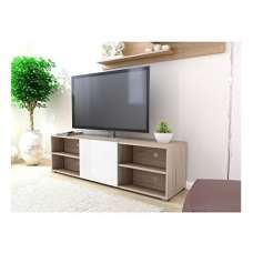 Blenheim Wooden TV Stand In Oak And White With 1 Door