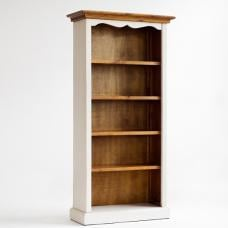 Boddem Bookcase 5 Tier Shelf White Pine