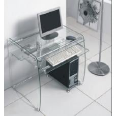 Boxey Clear Glass Computer Desk