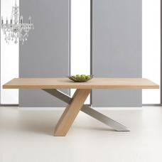 Bravo Wooden Dining Table Rectangular In Oak And Metal