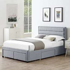Brayden Contemporary Fabric Storage King Size Bed In Grey