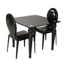 Brazenose Square Glass Dining Table Only