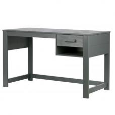Brighton Wooden Computer Desk In Steel Grey With 1 Drawer