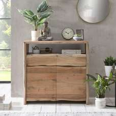 Brunch Chest Of Drawers In Acacia Wood With 2 Doors 2 Drawers