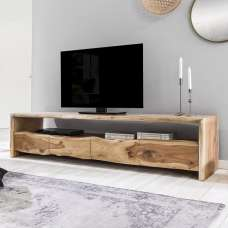 Brunch Wooden TV Stand Wide In Acacia Wood With 4 Drawers