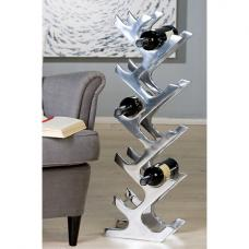 Buenos Stylish Wine Rack Stand In Polished Aluminium