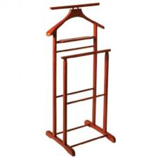 Dual Rail Wooden Valet Stand In Cherry